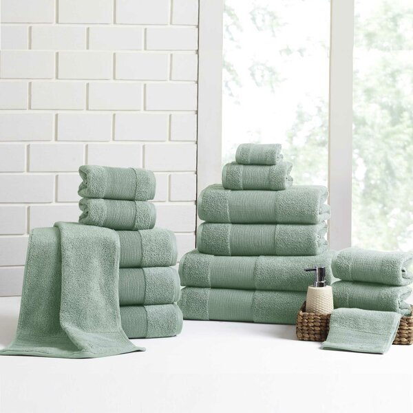 Mcculloch 18 Piece 100% Cotton Towel Set by Winston Porter